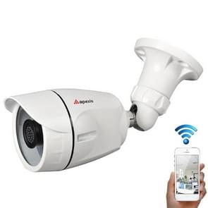 apexis AH6104BW WiFi 1.0MP Bullet 720P IP Camera, Support Night Vision / Motion Detection, IR Distance: 12-18m