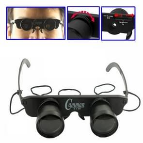 3x28mm Plastic Toy Binoculars with 3 Eyeglasses (Myopia / Hyperopia / Normal Optical)(Black)