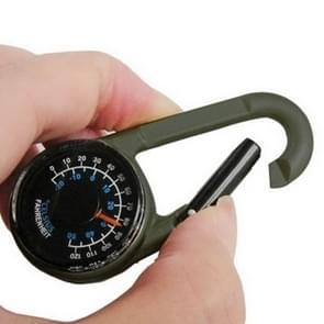 Carabiner Key Compass & Thermometer Hiking Outdoor Travel