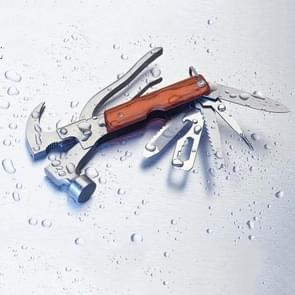Buiten roestvrij stalen multifunctionele Hammer (hamer + tangen Saw Blade + mes + flesopener)
