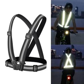 Nacht rijden flexibel reflecterend veiligheidsvest (Zwart)