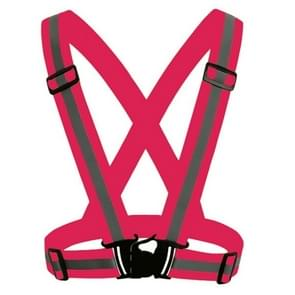 Night Riding Running Flexible Reflective Safety Vest(Magenta)