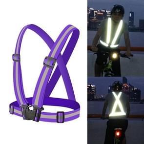 Nacht rijden flexibel reflecterend veiligheidsvest (Paars)