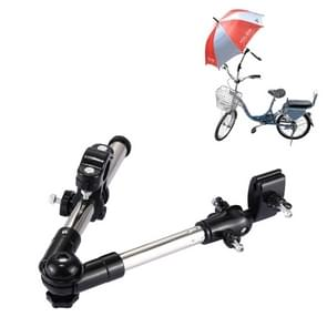 Universele verstelbare RVS opvouwbare fietsen beugel houder hoek verstelbare Mount paraplubak voor fiets Motorcycle(Black)