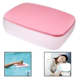 2 in 1 multifunctionele Air opblaasbare Cushion kussen / klein bureau voor Office / Home / Camping (roze)