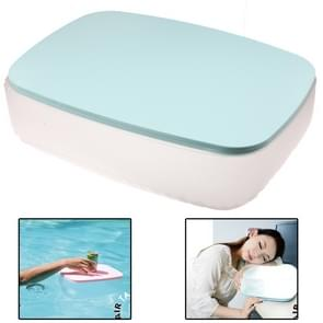 2 in 1 multifunctionele Air opblaasbare Cushion kussen / klein bureau voor Office / Home / Camping (blauw)
