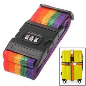 Verstelbare verpakking Band riem met Password Lock voor bagage bagage  willekeurige kleur levering