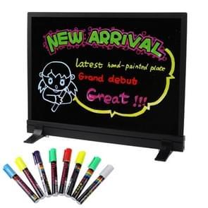 Kleurrijke LED TL Message Board met 8ST markeerstift pennen  formaat: 40 x 30cm