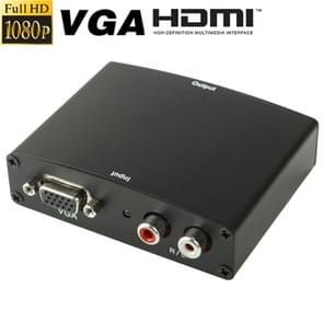 Full HD 1080P VGA to HDMI Adapter, 1.3 Version HDMI Standard(Black)