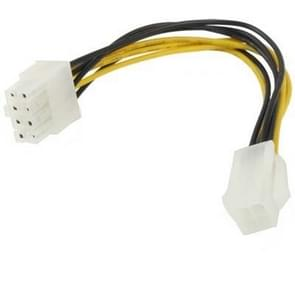 8 Pin Male to 4 Pin Female Power Cable  Length: 18.5cm