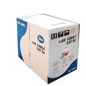Lan Cable (CAT5E Data cable), Copper-clad aluminium (CCA), Copper Clad Steel (CCS), Length: 305M, Diameter: 0.35mm