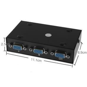 2 poort VGA Switch Box  2 In 1 uit Voor LCD PC TV Monitor - HD15 (FJ-15-2C)(zwart)