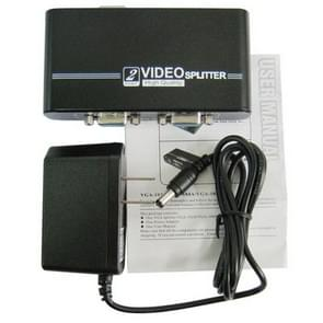 2 Ports High Quality Video Splitter(Black)