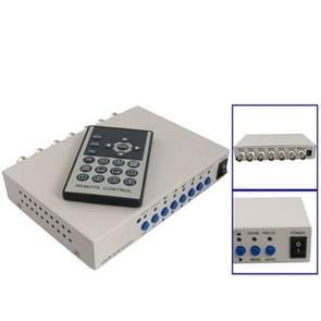 CCTV Color Quad beveiliging video 4-kanaals processor verdeler (wit)