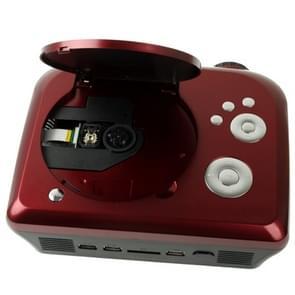 """Home Theater Projector van de draagbare DVD met TV ontvanger functie (PAL / NTSC / SECAM)  AV IN / OUT en spel functie  ondersteuning voor SD / MMC-kaart / USB-flashschijf  projectie Afbeeldingsgrootte: 10-80"""""""""""