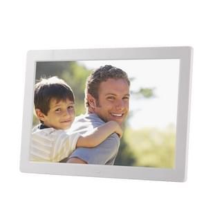 15 inch 1280 x 800 LED digitale fotolijst met houder & afstandsbediening ondersteuning SD/MMC/MP3/MP4/en USB (wit)