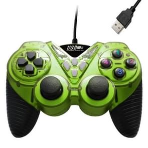 Wired Vibration Gamepad PC USB Controller Joystick Game Handle(Light Green)