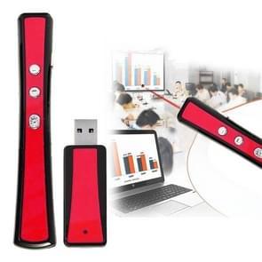 VIBOTON PP900 2 4 GHz multimediapresentatie externe PowerPoint Clicker Handheld Controller Flip-Pen met USB-aansluiting  bepalen afstand: 25m(Red)