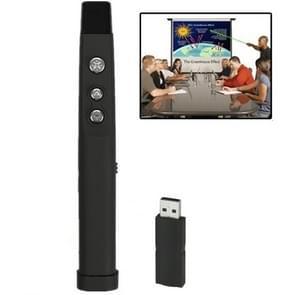 PP-860 Draadloze 2.4GHz Multimedia Presenter met laserpointer & USB ontvanger voor Projector / PC / Laptop  werkt tot op een afstand van 10 meter (zwart)