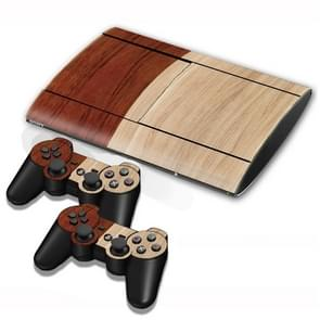 hout structuur Stickers voor PS3 Game Console