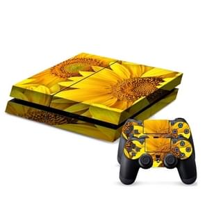 Sunflower patroon Stickers voor PS4 Game Console