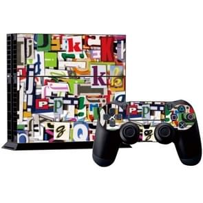 Letter patroon Stickers voor PS4 Game Console