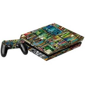 Bookshelf patroon Stickers voor PS4 Game Console