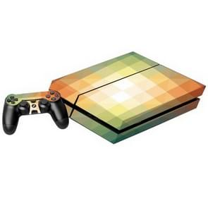 Gradient Effect Plaid patroon Stickers voor PS4 Game Console