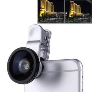 0.4X Wide-angle Lens met Clip voor Samsung Galaxy S IV / i9500(zilver)