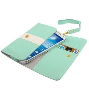 Universal Cross Texture Wallet Style Leather Case Pocket Sleeve Bag with Credit Card Slots & Lanyard for Samsung S IV / i9500 / i9300 / i9250 / i8750 / iPhone 5 / HTC One / ASUS PadFone2 / HTC G23 / Sony LT29i / Sony L36h / LG E960 / Sony M35h / LG P880 /