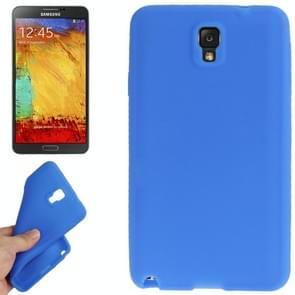 Anti-kras Siliconen hoesje voor Samsung Galaxy Note III / N9000 (blauw)