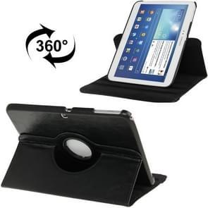 360 graden draaiend Crazy Horse structuur lederen hoesje met houder voor Samsung Galaxy Tab 3 (10.1) / P5200 / P5210  zwart(zwart)