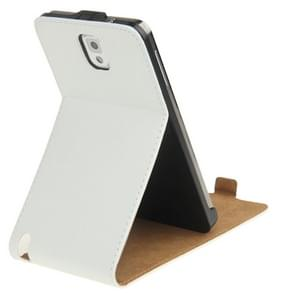 Vertical Flip Leather Case with Holder for Galaxy Note III / N9000(White)