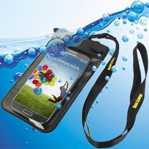 Waterdichte tas met riem & armband voor Galaxy S IV/i9500 (zwart)