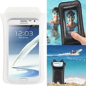 IPX8 hoogste kwaliteit flexibele water bestendige/vuil bestendige tas met nekband  geschikt voor Galaxy Mega 5 8/i9150/N7100/Note III/N9000 (WP-C2  wit)