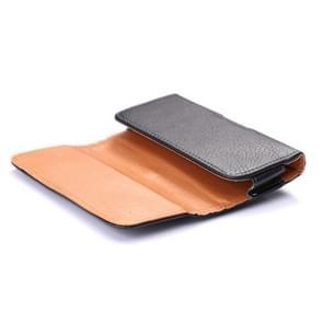 Litchi structuur universeel horizontaal Style Waist Bag voor iPhone 6 / Samsung Galaxy S4 / i9500