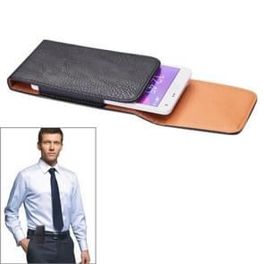 Litchi structuur Vertical Style Waist Bag voor iPhone 6 Plus & iPhone 6S Plus  Samsung Galaxy Note 4 / Note 3 / Note II / N7100