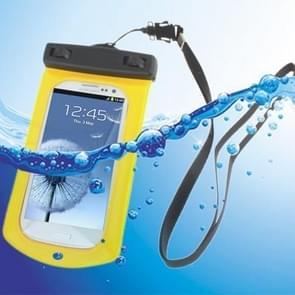 Waterdichte tas met riem & armband voor Galaxy SIII/i9300  geel