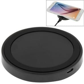 Qi standaard draadloos opladen Pad  voor iPhone 8 / 8 Plus / X & Samsung / Nokia / HTC en andere mobiele telefoons (grijs + zwart)