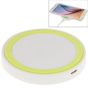 Qi standaard draadloos opladen Pad  voor iPhone 8 / 8 Plus / X & Samsung / Nokia / HTC en andere mobiele telefoons (Wit + TL groen)