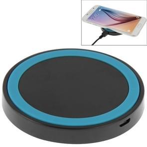 Qi standaard draadloos opladen Pad  voor iPhone 8 / 8 Plus / X & Samsung / Nokia / HTC en andere mobiele telefoons (zwart + blauw)