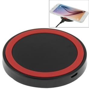 Qi standaard draadloos opladen Pad  voor iPhone 8 / 8 Plus / X & Samsung / Nokia / HTC en andere mobiele telefoons (zwart + rood)
