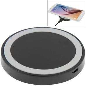 Qi standaard draadloos opladen Pad  voor iPhone 8 / 8 Plus / X & Samsung / Nokia / HTC en andere mobiele telefoons (zwart + wit)