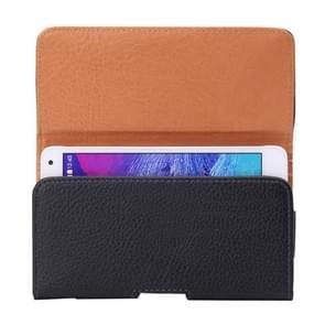 Voor Samsung Galaxy S7 / G930 & S6 Edge / G925 & S6 / G920 & S5 / G900 & Grand DUOS I9082 Litchi structuur taille tas voldaan terug Splint
