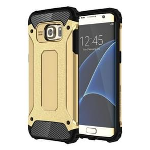 For Galaxy S7 Edge / G935 Tough Armor TPU + PC Combination Case (Gold)