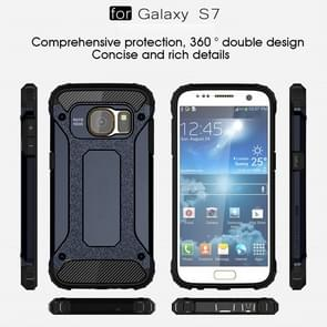 For Galaxy S7 / G930 Tough Armor TPU + PC Combination Case (Dark Blue)