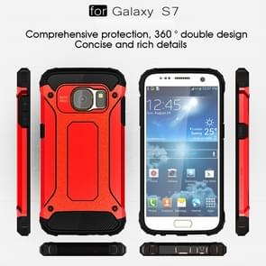 For Galaxy S7 / G930 Tough Armor TPU + PC Combination Case (Red)