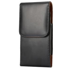 Crazy Horse structuur Vertical Flip lederen hoesje / Waist Bag met Back Splint voor Samsung Galaxy S6 / G920