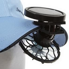 Mini Clip-on zonne-energie cel reizen koele Fan(zwart) koeling