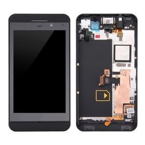LCD-scherm en Digitizer met Frame voor BlackBerry Z10 4G(Black)